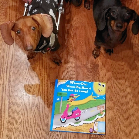 These 2 cuties loved the book!